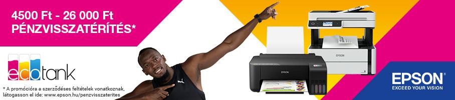 Epson nyomtatók pénzvisszatérítéssel!