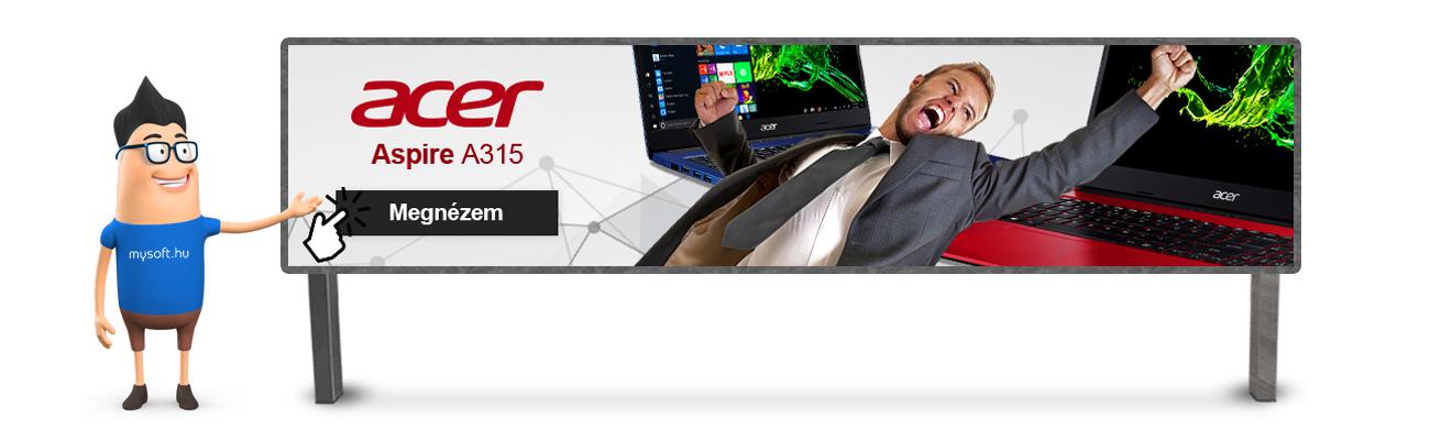 Az ár-érték arány bajnoka! Acer Aspire A315!