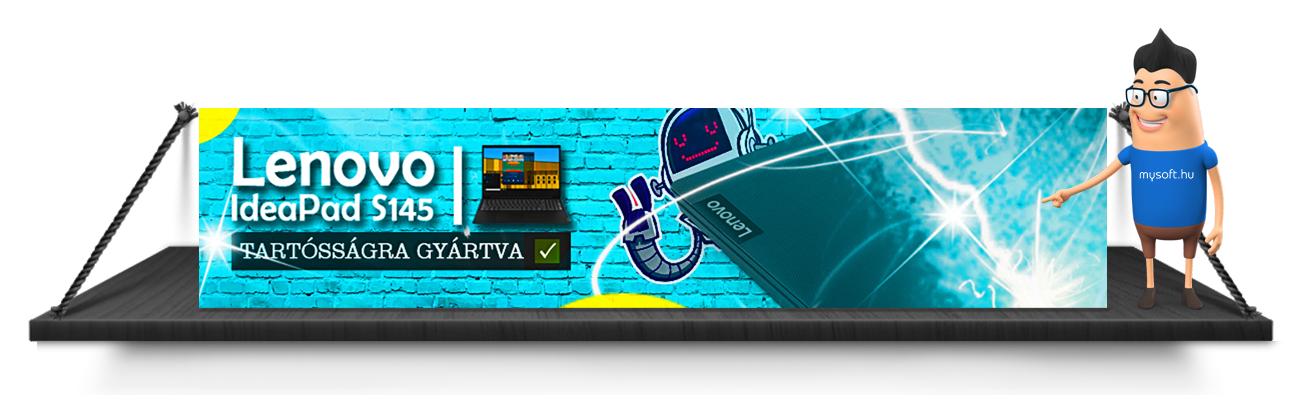 Egy laptop mind felett! Itt a Lenovo Ideapad S145!