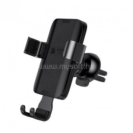 JOYROOM Huldra HL-ZS178 Gravity Leather Autós Telefontartó (Fekete)