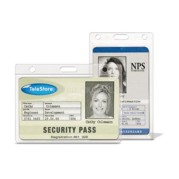 3L 61x104mm álló biztonsági 10db ID kártyatartó tok