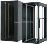 42U, szerverszekrény 800x1000, Biztonsági üvegajtóval, levehető zárható fém olda