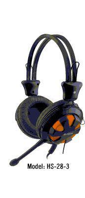 A4-TECH narancs-fekete gamer headset