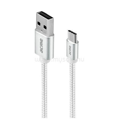 ACME B2041G 1m ezüst Type-C - USB kábel