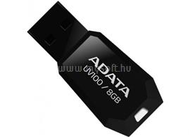 ADATA DashDrive UV100 Slim Bevelled Pendrive 8GB USB2.0 (fekete), AUV100-8G-RBK