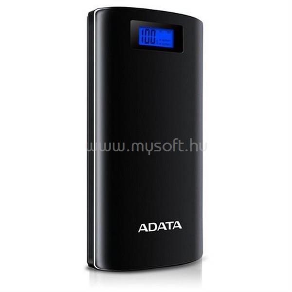 ADATA P20000D 20000mAh fekete power bank AP20000D-DGT-5V-CBK large