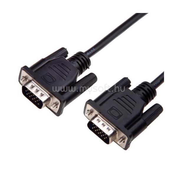 AKYGA kábel VGA monitor összekötő 1.8m, Male/Male, árnyékolt