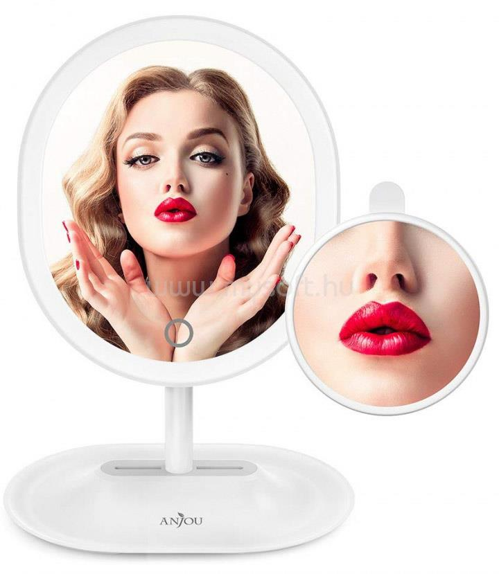 ANJOU AJ-MTA005 fehér kozmetikai tükör