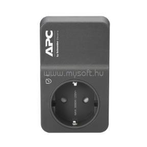 APC PM1WB-GR túlfeszültségvédő dugalj 1 DIN, fekete
