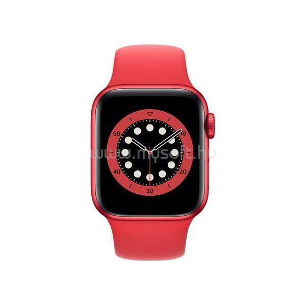 APPLE Watch Series 6 GPS-es 40mm PRODUCT(RED) alumíniumtok PRODUCT(RED) sportszíjas okosóra