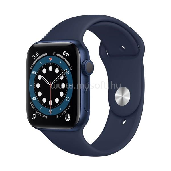 APPLE Watch Series 6 GPS-es 44mm kék alumíniumtok tengerészkék sportszíjas okosóra