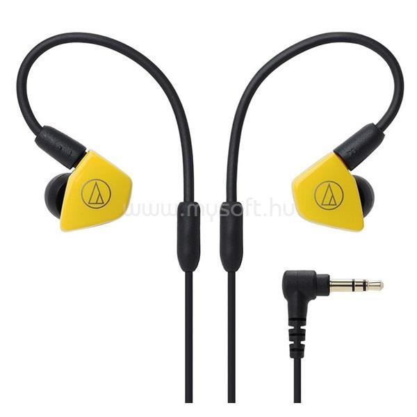 AUDIO-TECHNICA ATH-LS50ISYL Live-Sound sárga fülhallgató headset