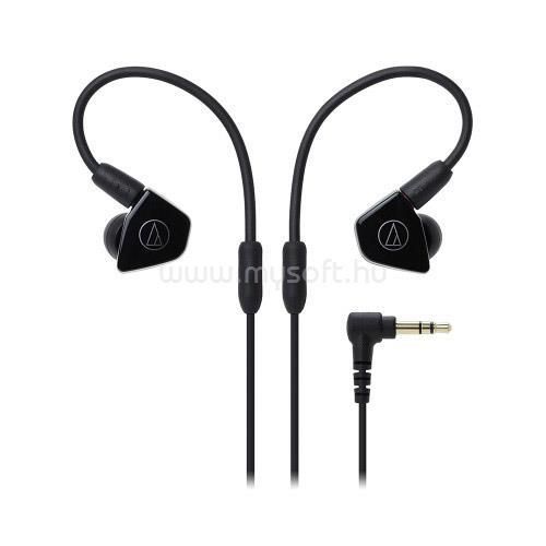 AUDIO-TECHNICA ATH-LS50ISBK Live-Sound fülhallgató headset (fekete)
