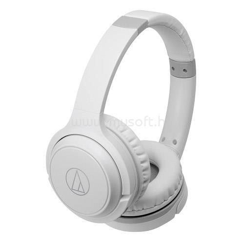 AUDIO-TECHNICA ATH-S200BTWH Bluetooth fejhallgató headset (fehér)