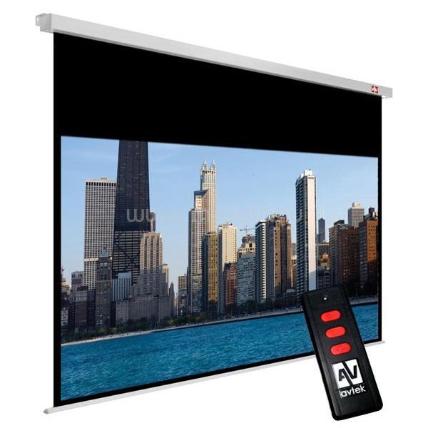 AVTEK vetítővászon 16:9 230x129,5cm, elektromos, Cinema Electric 240, fekete kerettel
