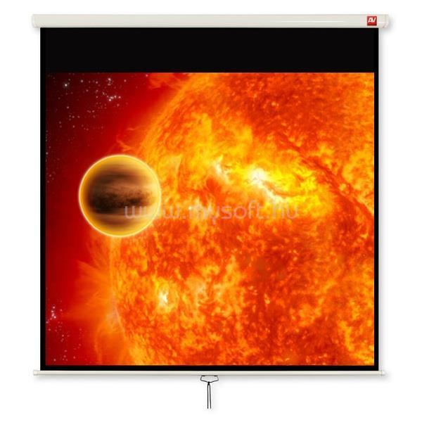 AVTEK vetítővászon 4:3 230x172,5cm, rolós, Video 240. fekete kerettel