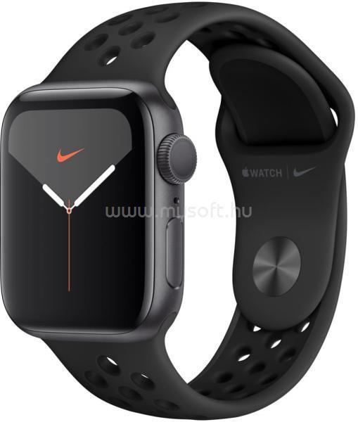 APPLE Watch Nike S5 44mm GPS-es asztroszürke alumíniumtok, antracitszürke/fekete Nike sportszíjas okosóra