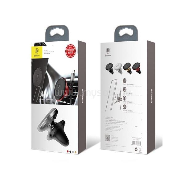 BASEUS Magnetic Air Vent univerzális mágneses fekete autós telefon tartó