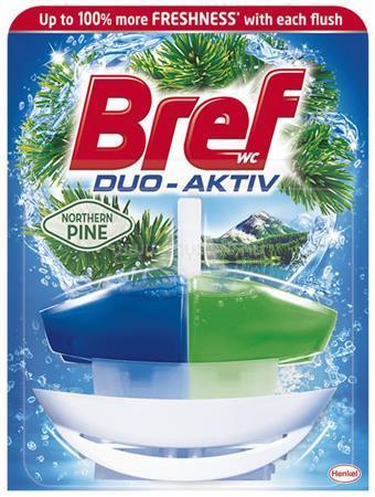"""BREF WC illatosító gél, 50 ml, """"Duo Aktiv"""", fenyő"""
