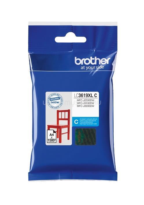 BROTHER Tintapatron LC3619C, Ultra nagy kapacitású - 1500 oldal, Cián