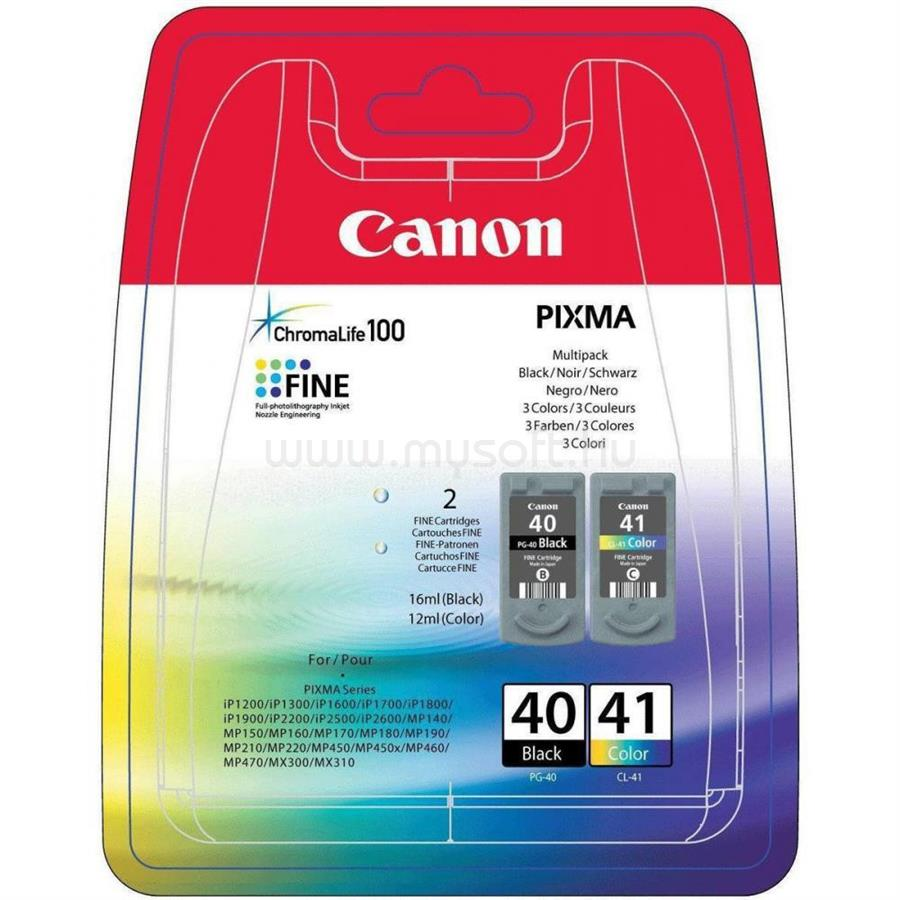 CANON PG-40/CL-41 MULTIPACK BLISTER 2 CARTRIDGES