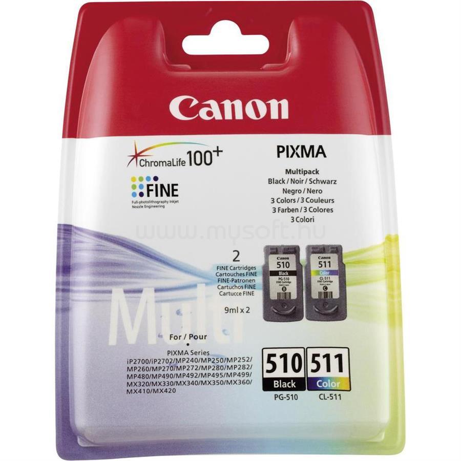 CANON PGI-510B / CL511 fekete/színes multipack tintapatron