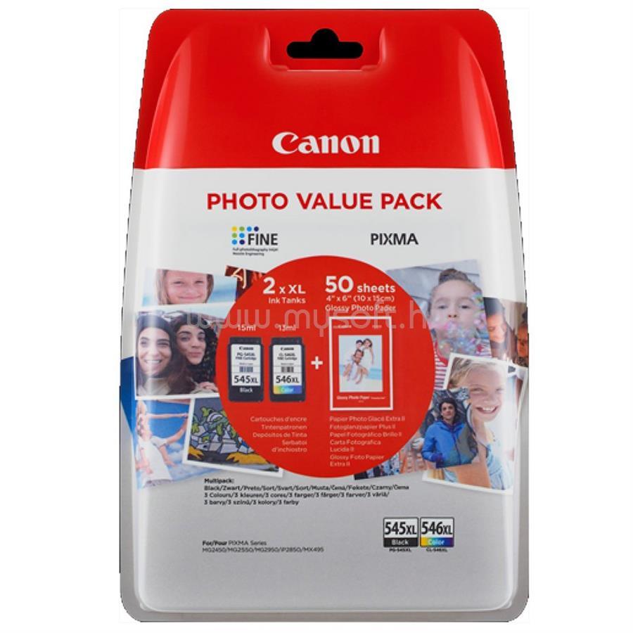 CANON PG545XL/CL546XL + 50db 10x15 GP501 fotópapír csomag