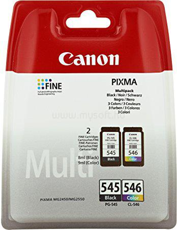 CANON PG-545B / CL-546 fekete/színes multipack tintapatron