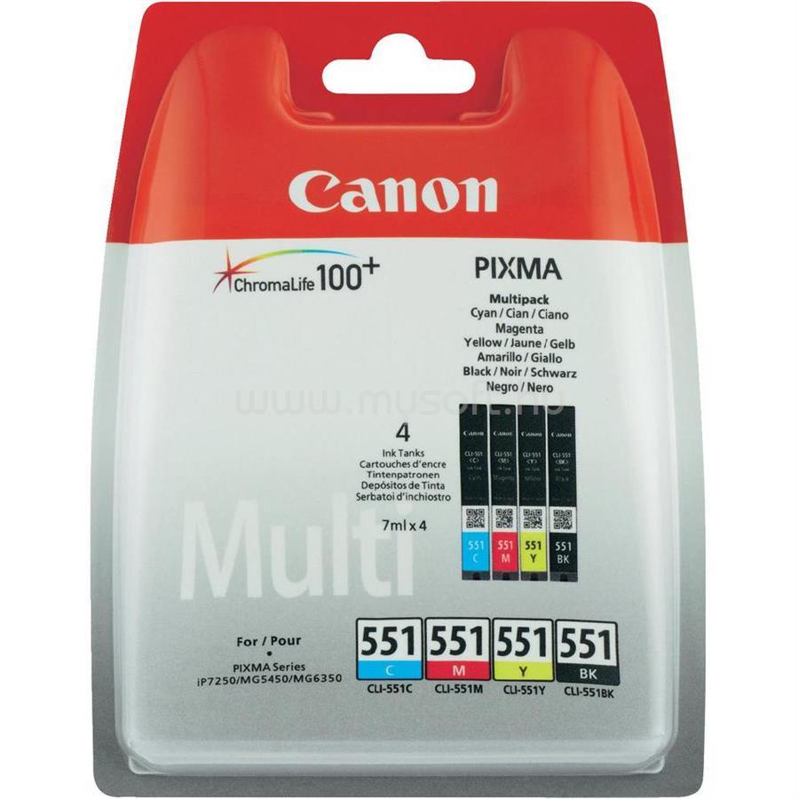 CANON CLI-551 C/M/Y/BK MULTI PACK W/O SEC CYAN, MAGNT,YLLOW,BLAK