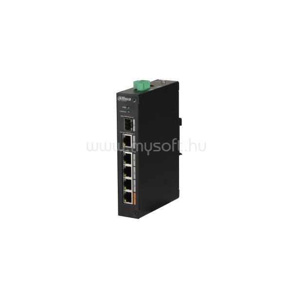 DAHUA PoE switch - PFS3106-4ET-60 (4x 100Mbps PoE (60W) + 1x 1Gbps + 1xSFP, 53VDC)