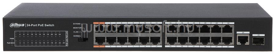 DAHUA PoE switch - PFS3125-24ET-190 (24port 100Mbps, 24port  PoE (190W) + 1x combo SFP)