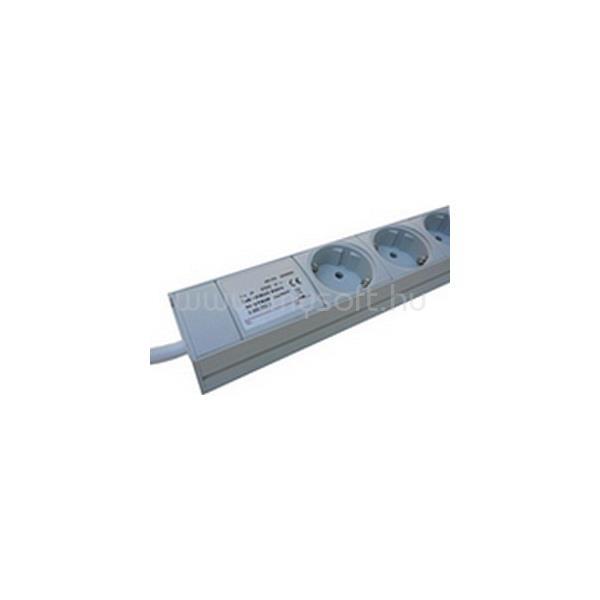 """DELTA Rackbe szerelhető Elosztó 6 Dugalj + Kapcsoló 19"""" IEC320C14/10A (UPS-be dugható)"""