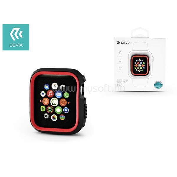 DEVIA ST323904 Dazzle Apple Watch 4 44m fekete/piros védőtok