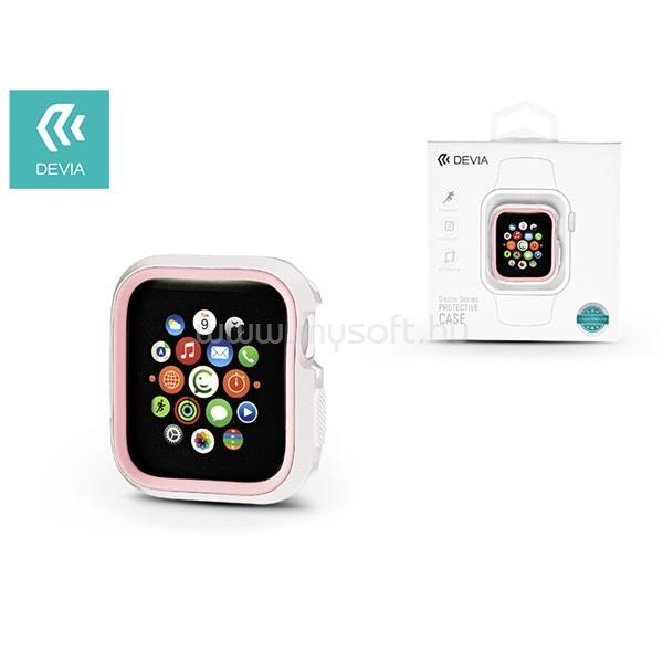 DEVIA ST323928 Dazzle Apple Watch 4 44m fehér/rózsaszín védőtok