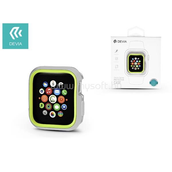 DEVIA ST323935 Dazzle Apple Watch 4 44m ezüst/zöld védőtok