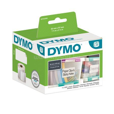DYMO Etikett, LW nyomtatóhoz, 32x57 mm, 1000 db etikett