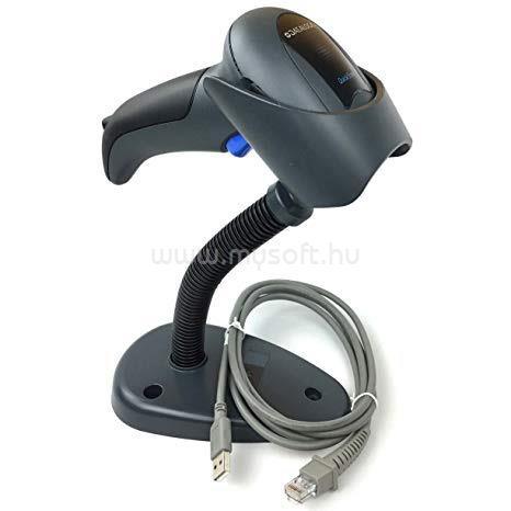 DATALOGIC QuickScan QD2430 2D vonalkódolvasó USB kit állvánnyal (fekete)
