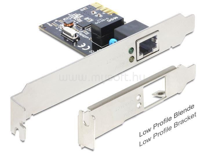DELOCK PCI-e Bővítőkártya 1x Gigabit LAN Low Profile
