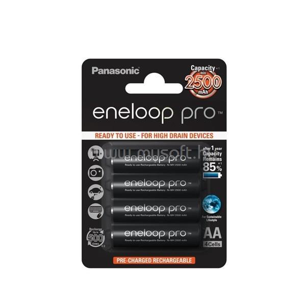 ENELOOP Panasonic Pro AA 2500mAh ceruza akkumulátor 4db/bliszter