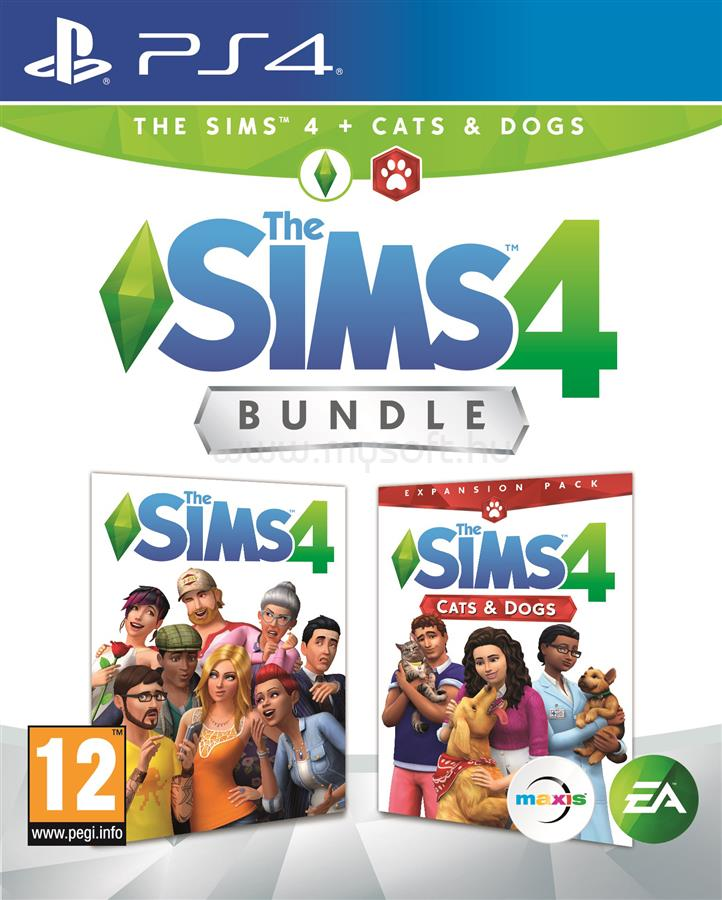 ELECTRONIC ARTS The Sims 4 + Cats & Dogs Bundle PS4 HU játékszoftver