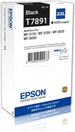 Epson WF-5xxx Series Ink Cartridge XXL Tintapatron Black (4 000 oldal), C13T789140