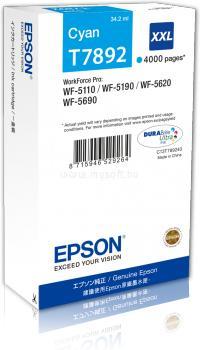 EPSON WF-5xxx Series Ink Cartridge XXL Tintapatron Cyan (4 000 oldal)