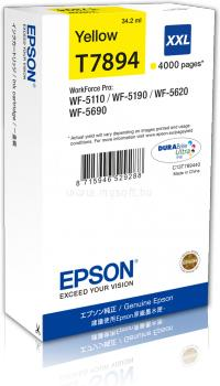 EPSON WF-5xxx Series Ink Cartridge XXL Tintapatron Yellow (4 000 oldal)