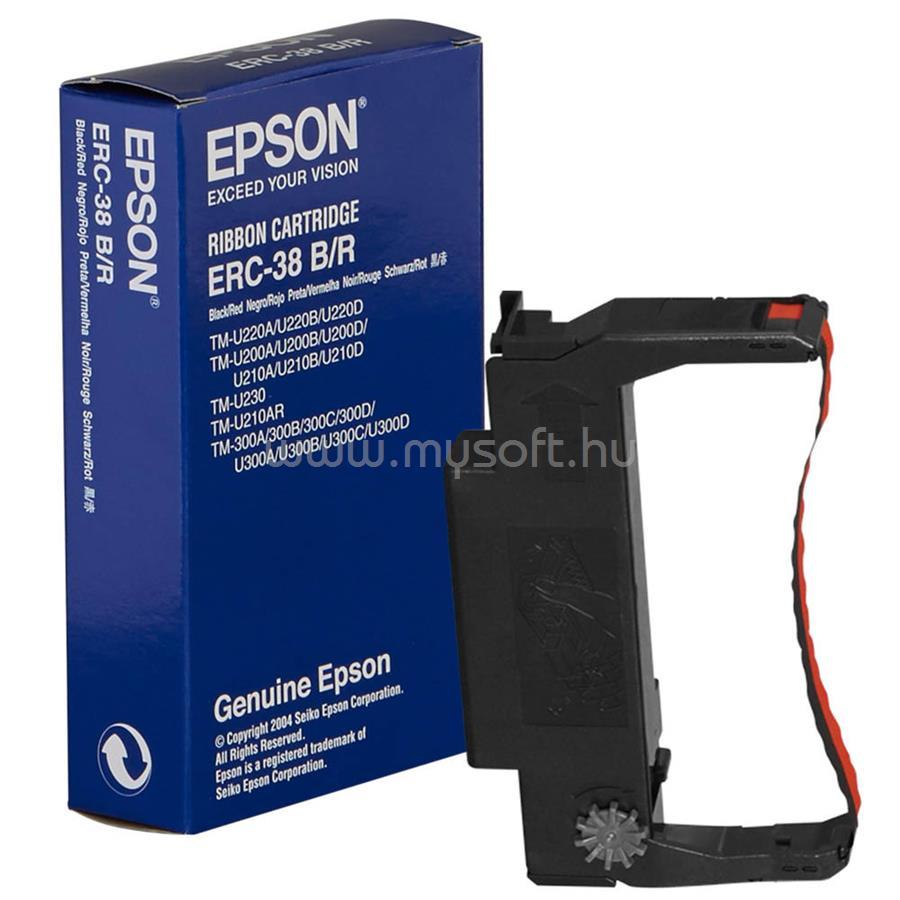 EPSON ERC38 B/R Fekete/Piros festékszalag
