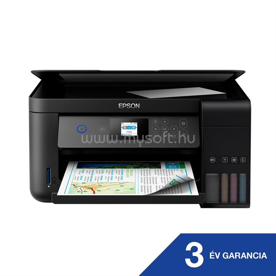 EPSON EcoTank L4160 külső tintatartályos színes multifunkciós tintasugaras nyomtató C11CG23401 large