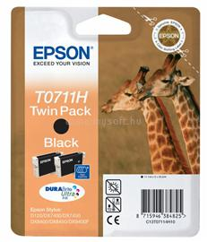 Epson Ink Catridge T0711H Twin Pack Black, C13T07114H10
