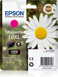 Epson Singlepack Magenta 18XL Claria Home Ink, C13T18134010