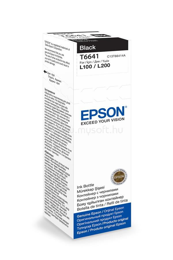 EPSON T6641 Black ink bottle 70ml 4 000 oldal