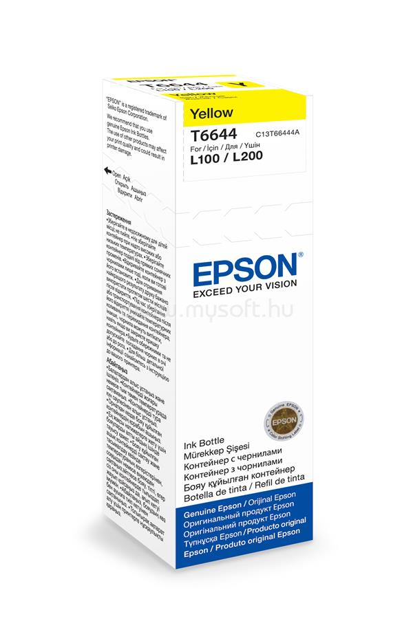 EPSON T6644 Yellow ink bottle 70ml 4 000 oldal