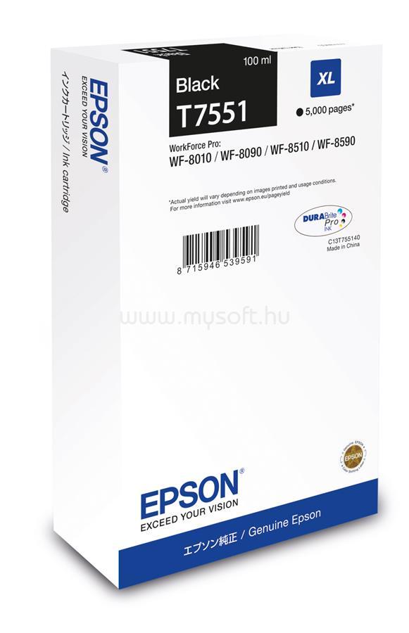 EPSON T7551 Black XL ink bottle 100ml 5 000 oldal
